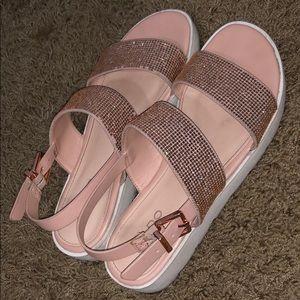 ALDO pink sparkly sandals super cute!
